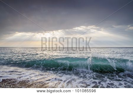 Sea wave. Landscape