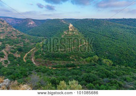 Nahal Kziv And The Montfort Castle