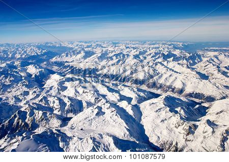 The Alps in areal view