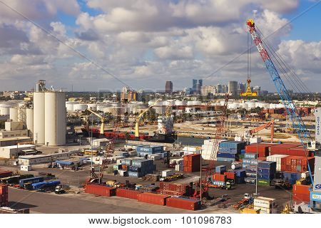 Port Everglades In Ft. Lauderale, Florida