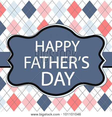 Father's Day Greeting Card With Fabric Texture Patterns.eps
