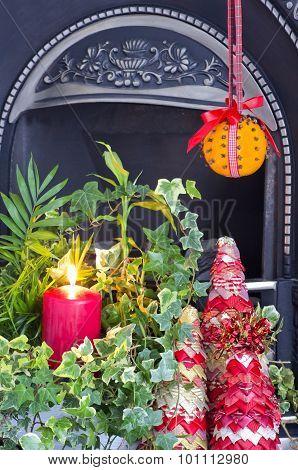 Christmas Fireside Display