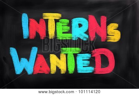Interns Wanted Concept