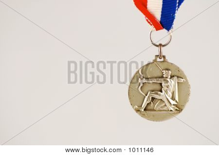 Medal With Archer And White Background
