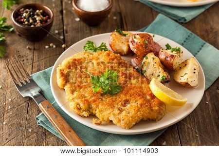 Homemade Breaded German Weiner Schnitzel