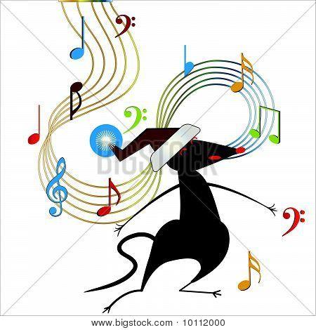 Singing Santa Hat Mouse