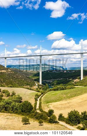Millau Viaduct, Aveyron, Midi Pyrenees, France poster