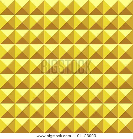 Abstract Geometric Background Of Spikes. Vector Seamless Pyramidal Pattern.