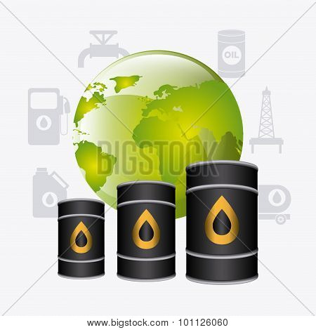 Oil industry design.