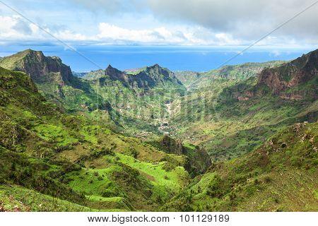 Serra Malagueta mountains in Santiago Island Cape Verde - Cabo Verde poster