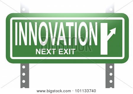 Innovation Green Sign Board Isolated