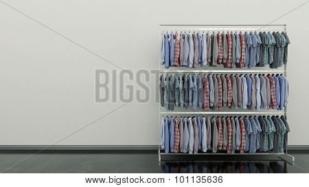 Choice of clothes of different colors