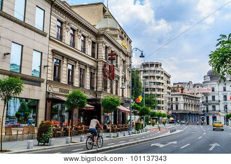Bucharest, Romania - August 30: Capsa Hotel On August 30, 2015 In Bucharest, Romania. It Is A Histor