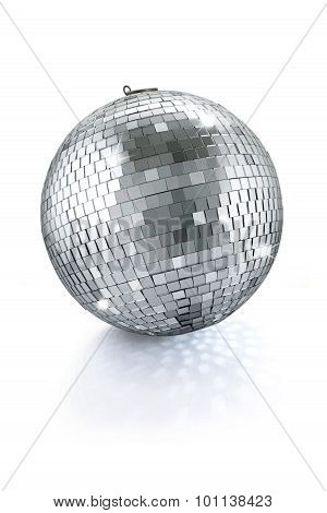 disco mirror ball isolated on white background