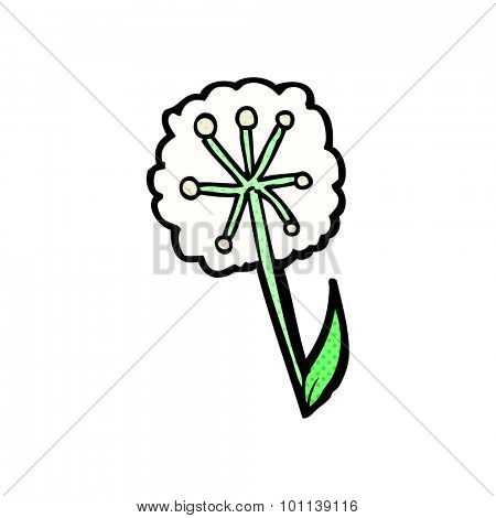 comic book style cartoon dandelion