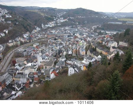 Birds Eye View Of Idar-Oberstein, Germany
