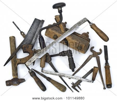 Pile of Old Carpenter Tools