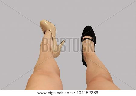 fitting high heel shoes