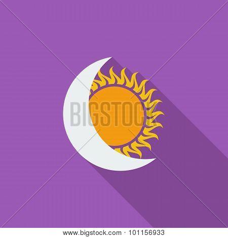 Solar eclipse single icon.