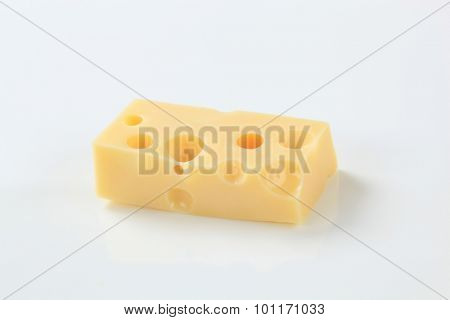 small piece of emmental cheese