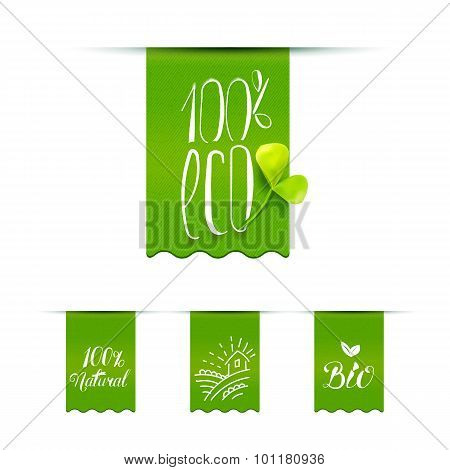 Helathy Product Calligraphy Label Set