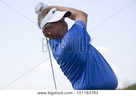 PARIS FRANCE, 03 JULY 2009. Colin Montgomerie (GBR) competing in the 2nd round of the PGA European Tour Open de France golf tournament.