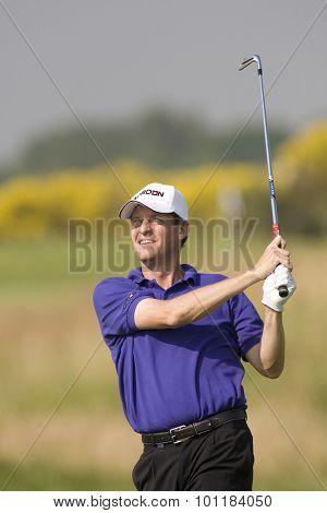 PARIS FRANCE, 02 JULY 2009. Anders Hansen (DEN) competing in the 1st round of the PGA European Tour Open de France golf tournament.