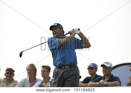 PARIS FRANCE, 02 JULY 2009. Angel Cabrera (ARG) competing in the 1st round of the PGA European Tour Open de France golf tournament.