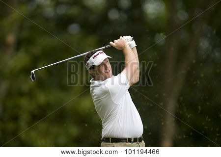 May 23 2009; Wentworth Surrey.Anthony Wall GBR  playing in the 3rd round of the European Tour BMW PGA Championship.