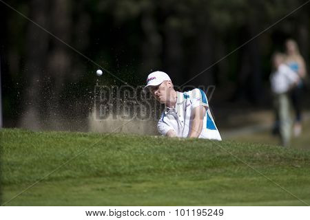 WENTWORTH, ENGLAND. 24 MAY 2009.David Horsey (GBR) playing in the final round of the European Tour BMW PGA Championship.