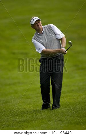 WENTWORTH, ENGLAND. 22 MAY 2009.Colin MONTGOMERIE SCO  playing in the 2nd round of the European Tour BMW PGA Championship.