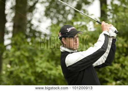 KENT ENGLAND, 27 MAY 2009. Henrik STENSON (SWE) playing in the pro-am event part of the European Tour European Open golf tournament.