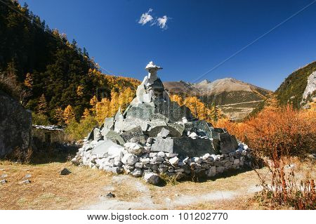 Scenery of Yading in Daocheng county, Sichuan Province