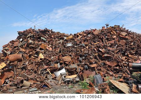 Recycling Industry, Heap Of Old Metal
