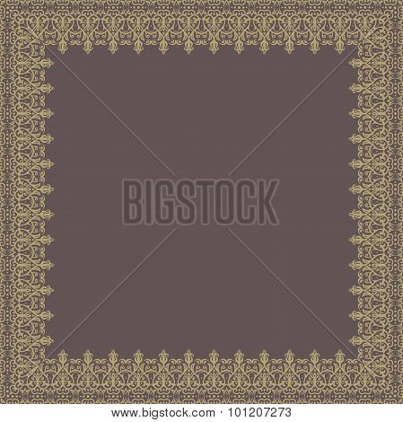 Floral  Quadratic Frame