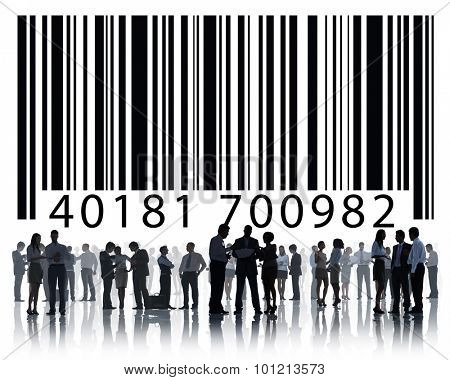 Bar Code Digital Information Business Collaboration Concept