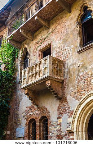 Romeo and Juliet balcony in Verona Italy poster