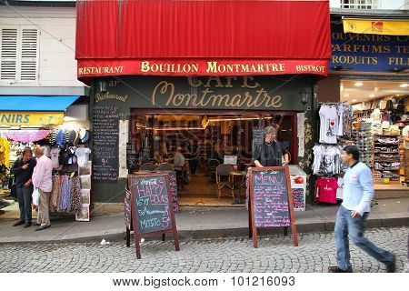 Cafe Montmartre, Paris