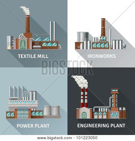 Factory Design Icons Set