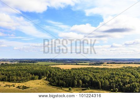 Russian countryside top view