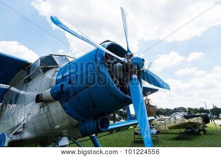 plane in Aviation Museum exhibition in Krakow poster