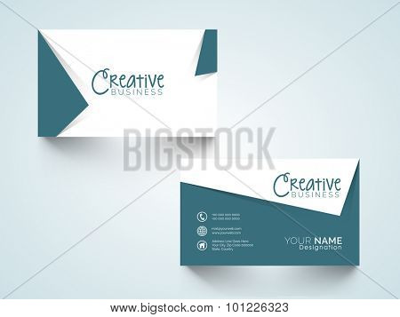 Creative horizontal business card, name card or visiting card set with space for your informations.