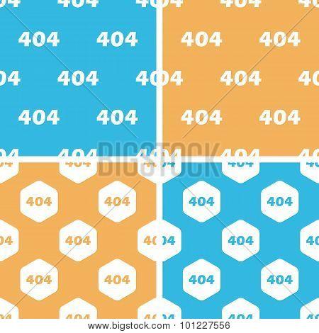 404 pattern set, colored