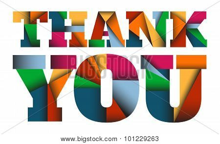 THANK YOU - colorful letters