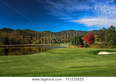 Early Autumn Blue Sky Morning for Golf