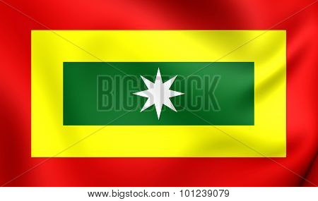 Flag Of Barranquilla City, Colombia.