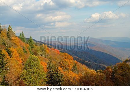 Fall View of the Smoky Mountains