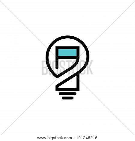 Electricity control center abstract sign. Design template Isolated on a white background