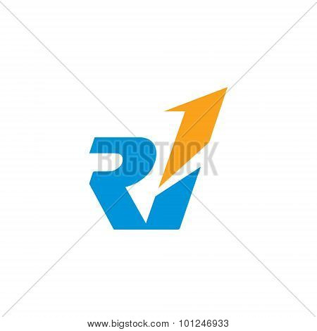 R1 Vector sign. Design template Isolated on a white background