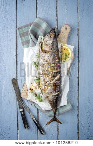 Barbecue Bonito on a Tray
